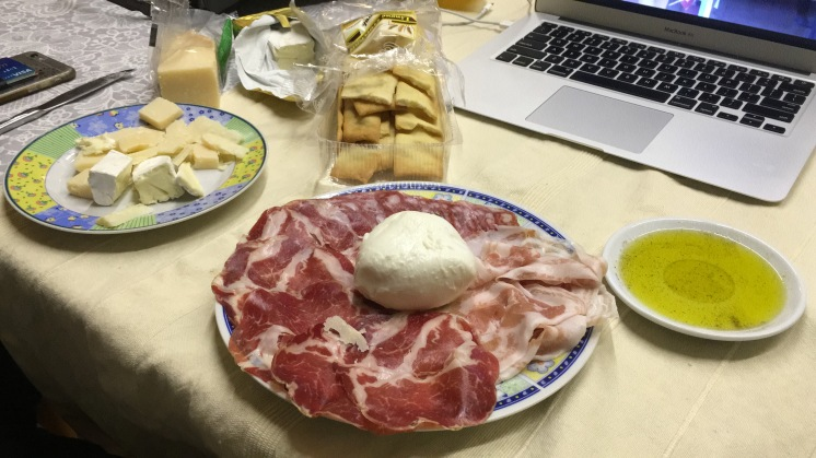 Homemade Meat Platter at Verona Airbnb
