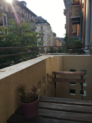 Patio at Our Milan Airbnb